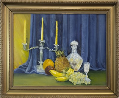 Lot 645-STILL LIFE, AN OIL BY EILEEN ANDERSON