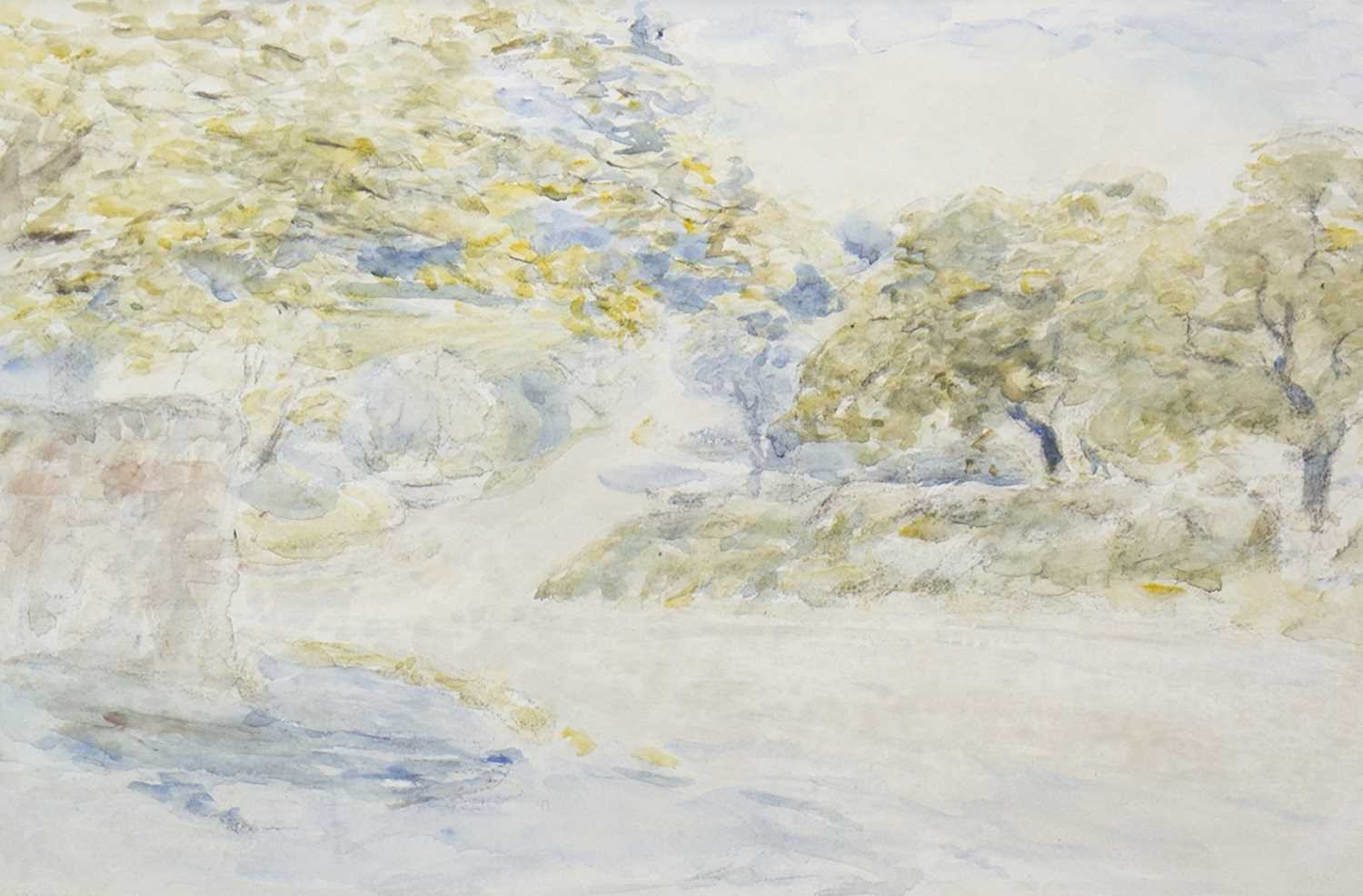 Lot 447-EARLY SUMMER, A WATERCOLOUR BY WILLIAM MCTAGGART