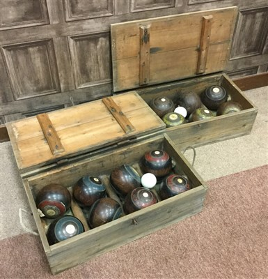 Lot 1902-A LOT OF TWO BOXES OF LAWN BOWLS