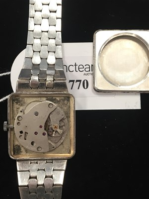 Lot 770-A GENTLEMAN'S JUNGHANS SILVER MANUAL WIND WATCH
