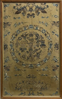 Lot 1037-A LATE 19TH CENTRY CHINESE EMBROIDERED SILK PANEL