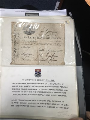 Lot 613-A RARE ARCHIVE: COLLECTION OF EARLY BANKNOTES FROM THE LEITH BANKING COMPANY