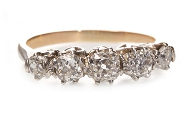 Lot 22-A DIAMOND FIVE STONE RING