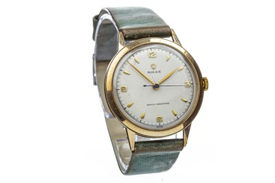 Lot 761-A GENTLEMAN'S ROLEX GOLD WRIST WATCH