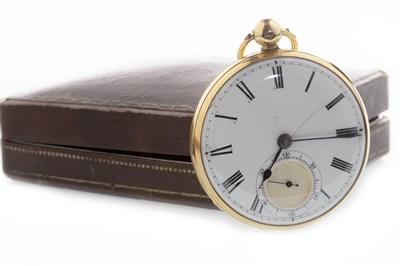 Lot 765-AN EIGHTEEN CARAT GOLD POCKET WATCH