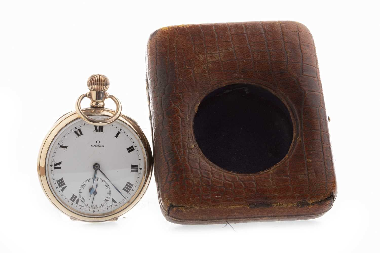Lot 770-AN OMEGA GOLD PLATED POCKET WATCH