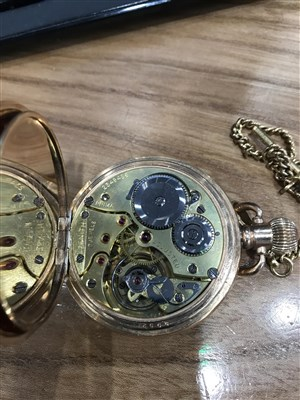 Lot 771-A GOLD PLATED FULL HUNTER POCKET WATCH