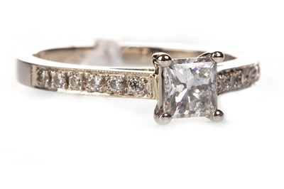 Lot 95-GIA CERTIFICATED DIAMOND SOLITAIRE RING