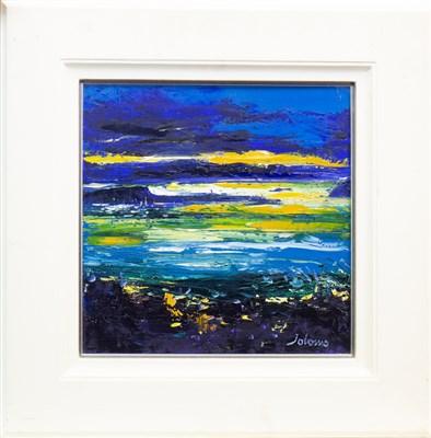 Lot 577-WINTER EVENING LIGHT OVER KERRERA, AN OIL BY JOHN LOWRIE MORRISON