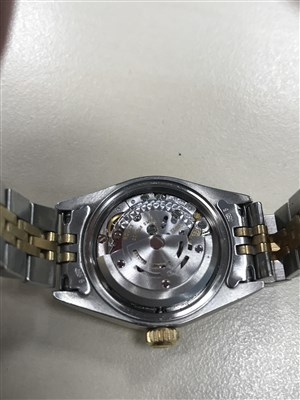 Lot 766-A LADY'S ROLEX OYSTER DATEJUST WATCH