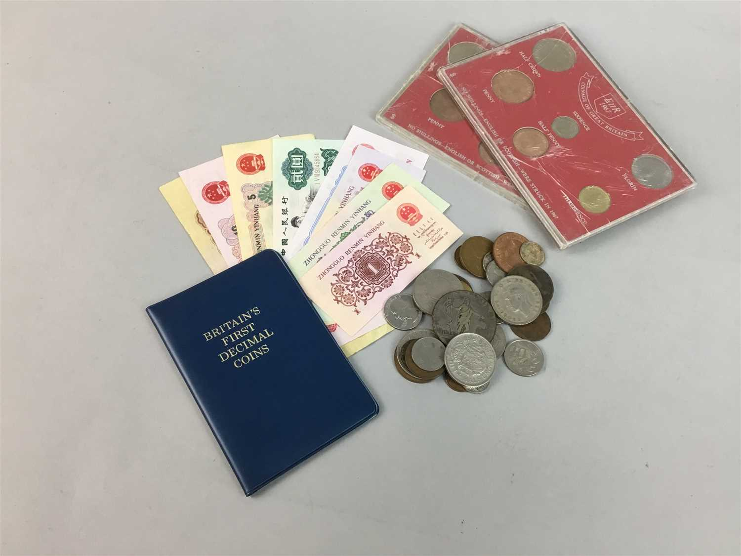 Lot 12-A LARGE COLLECTION OF VARIOUS COINS AND BANKNOTES