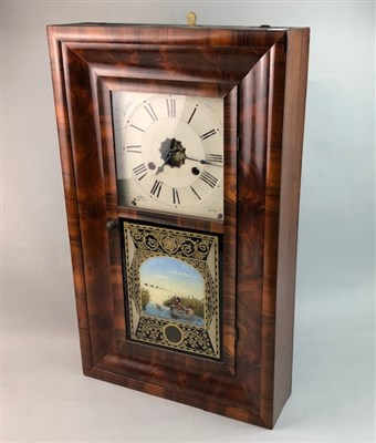 Lot 14-AN AMERICAN WALL CLOCK BY JEROME