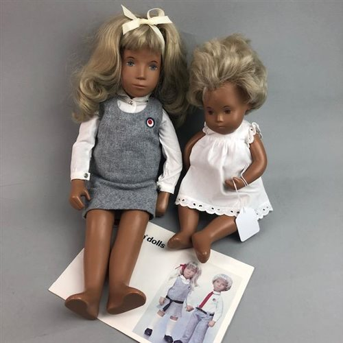 Lot 21-A SASHA BLONDE SCHOOL GIRL DOLL, ANOTHER DOLL AND BROCHURE