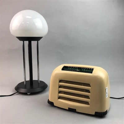 Lot 24-A VINTAGE KOSTER BRANDES BAKELITE RADIO AND A HABITAT LAMP