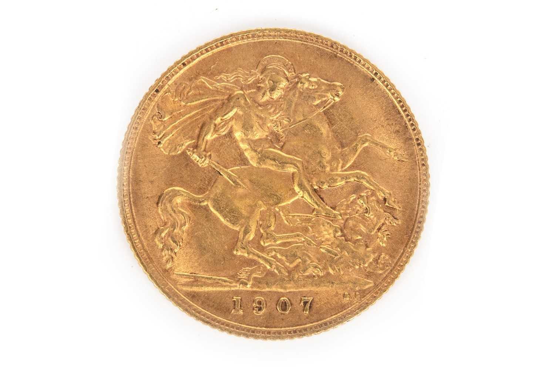 Lot 504-A GOLD HALF SOVEREIGN, 1907