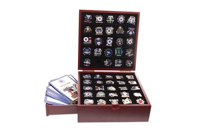 Lot 1903-THE CASED RANGERS VICTORY PIN COLLECTION