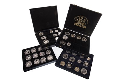 Lot 503-FOUR CASED SILVER PROOF COINS