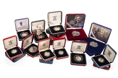 Lot 502-A COLLECTION OF VARIOUS SILVER PROOF AND OTHER COINS
