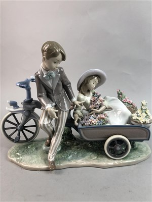 Lot 41-TWO LLADRO FIGURE GROUPS