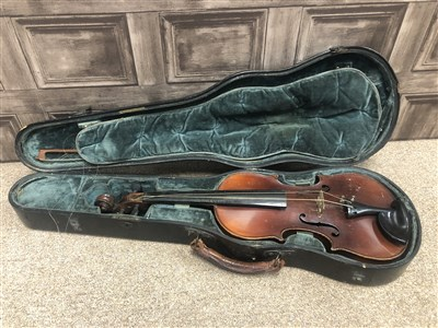 Lot 1422-A 20TH CENTURY VIOLIN AND BOW