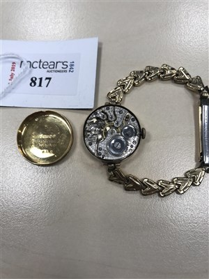 Lot 817-A LADY'S EARLY 20TH CENTURY GOLD WATCH