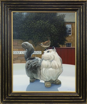 Lot 554-TOM AND JENNY, OF COURSE, AN OIL BY GORDON K MITCHELL