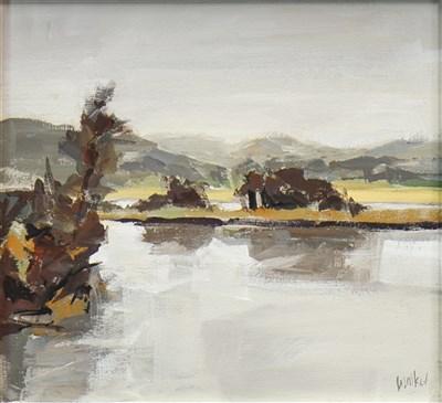 Lot 584-WEST COAST LANDSCAPE, AN OIL BY ETHEL WALKER