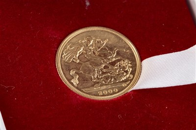 Lot 507-A GOLD SOVEREIGN, 2000