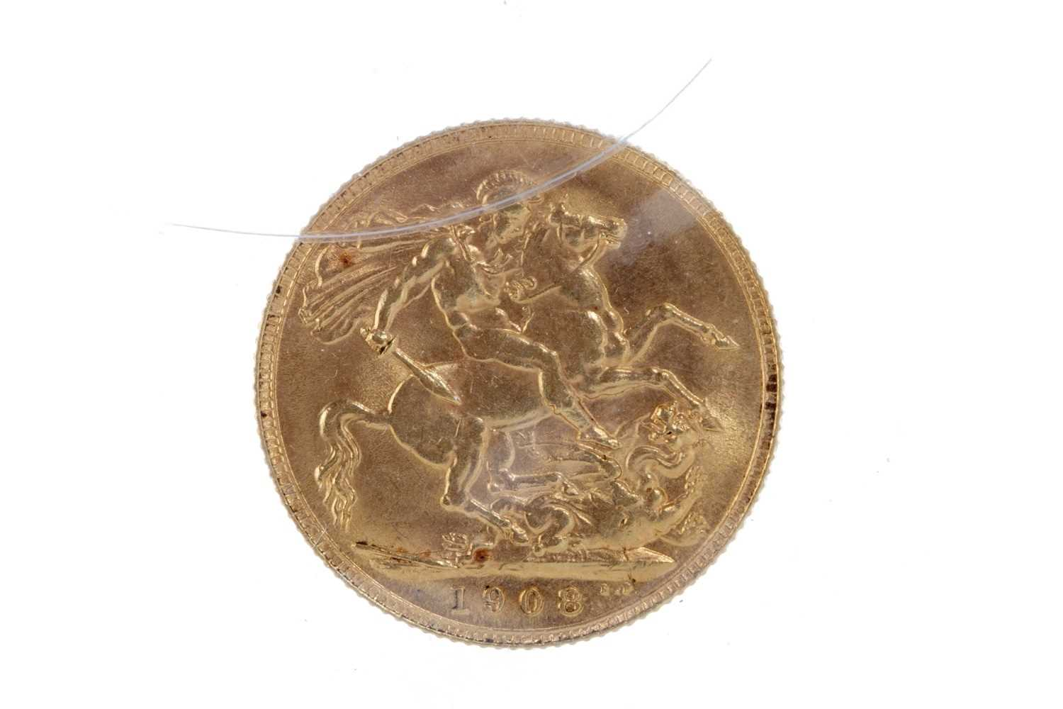 Lot 506 - A GOLD SOVEREIGN, 1908