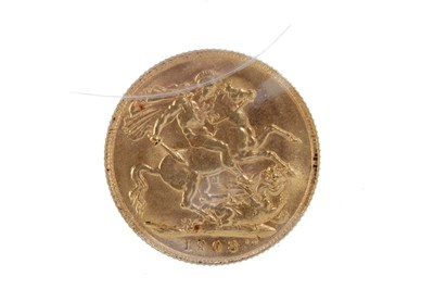 Lot 506-A GOLD SOVEREIGN, 1908