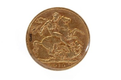 Lot 505-A GOLD SOVEREIGN,1910