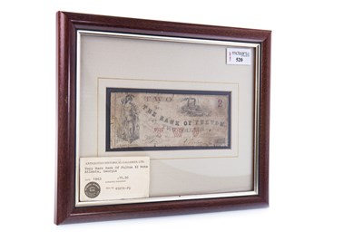 Lot 520 - A THE BANK OF FULTON $2 TWO DOLLAR NOTE DATED 1863