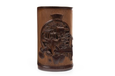 Lot 1059-A CHINESE CHING DYNASTY BAMBOO BRUSH POT