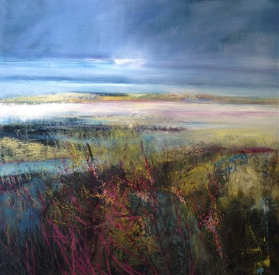 Lot 717 - WILD MACHAIR FLOWERS, A MIXED MEDIA BY MAY BYRNE