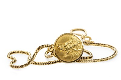 Lot 139 - A ST CHRISTOPHER PENDANT ON CHAIN