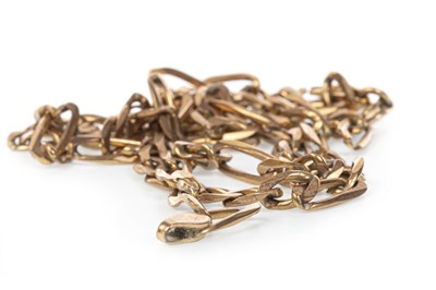 Lot 159 - A LINK CHAIN NECKLACE