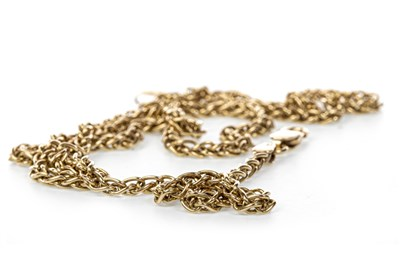 Lot 163 - A NINE CARAT GOLD CHAIN NECKLACE