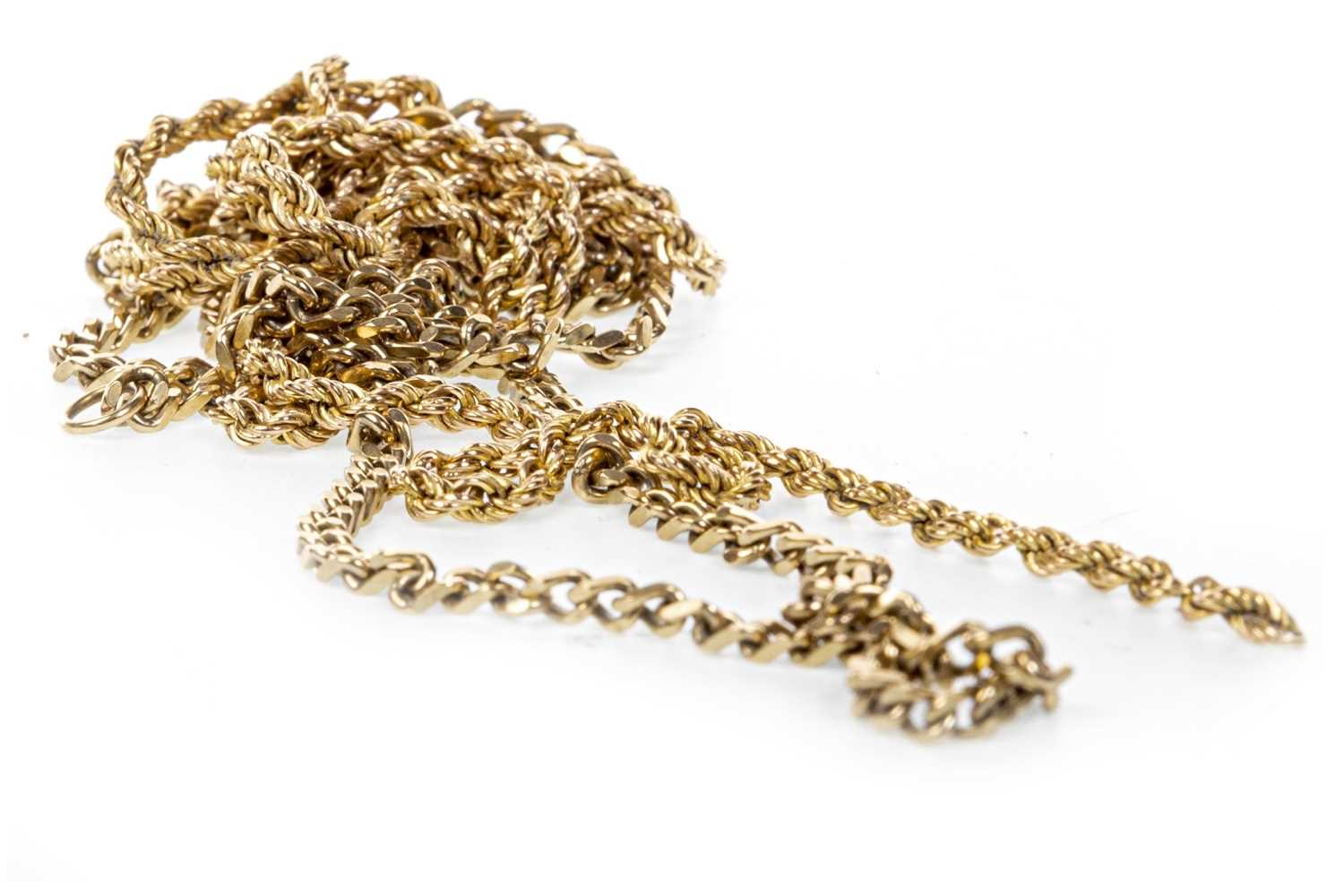 Lot 161-TWO CHAIN NECKLACES