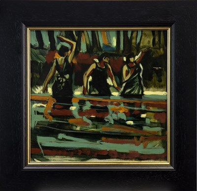 Lot 585-DEEP IN THE FOREST, AN OIL BY JAMIE O'DEA
