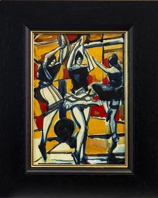 Lot 604-DANCERS II, A MIXED MEDIA BY JAMIE O'DEA