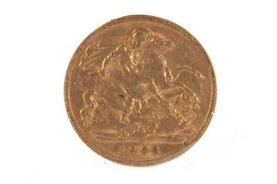 Lot 522-A GOLD HALF SOVEREIGN, 1903