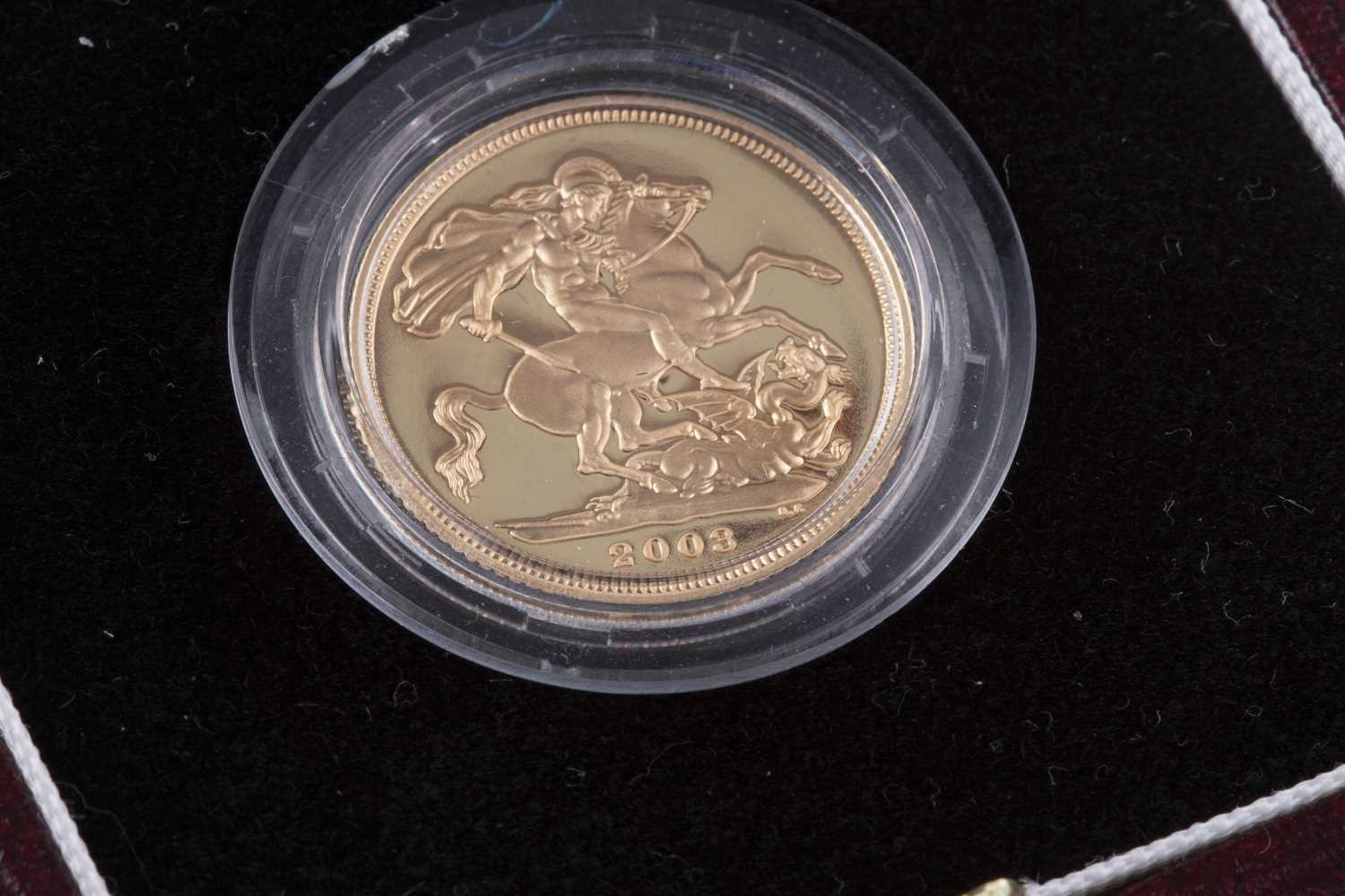 Lot 511-A THE ROYAL MINT PROOF SOVEREIGN 2003