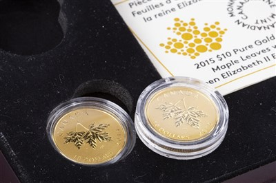 Lot 519-A THE ROYAL CANADIAN MINT GOLD COIN COLLECTION