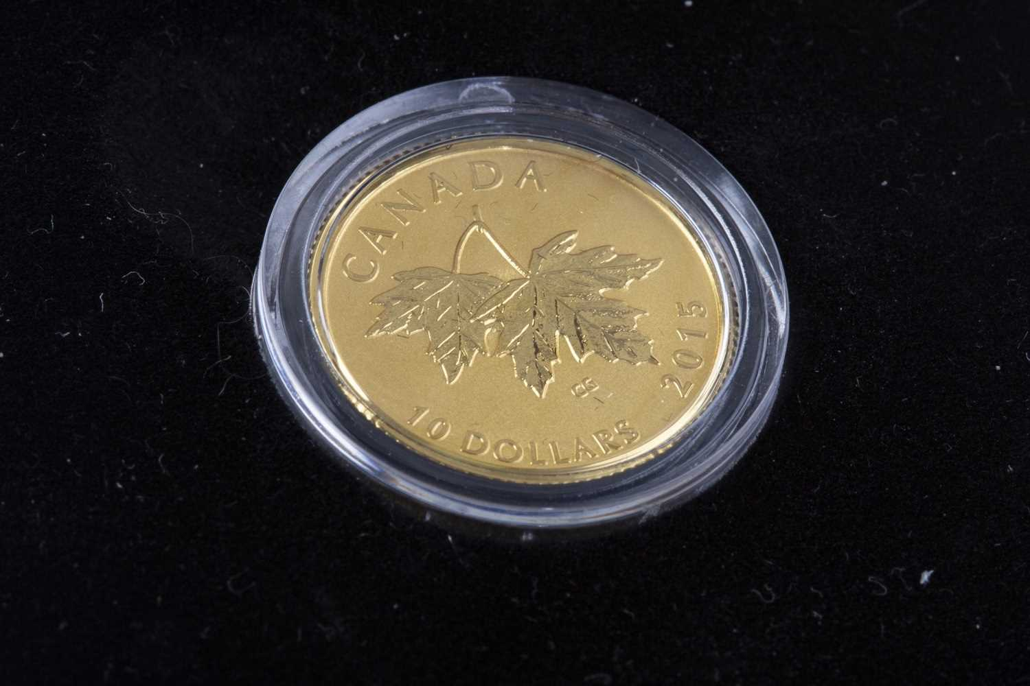 Lot 536 - A THE ROYAL CANADIAN MINT 2015 $10 GOLD COIN