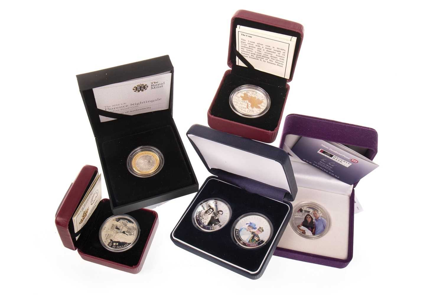 Lot 538-FIVE SILVER PROOF COINS