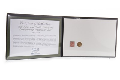 Lot 540-A WESTMINSTER GOLD SOVEREIGN PRESENTATION COVER