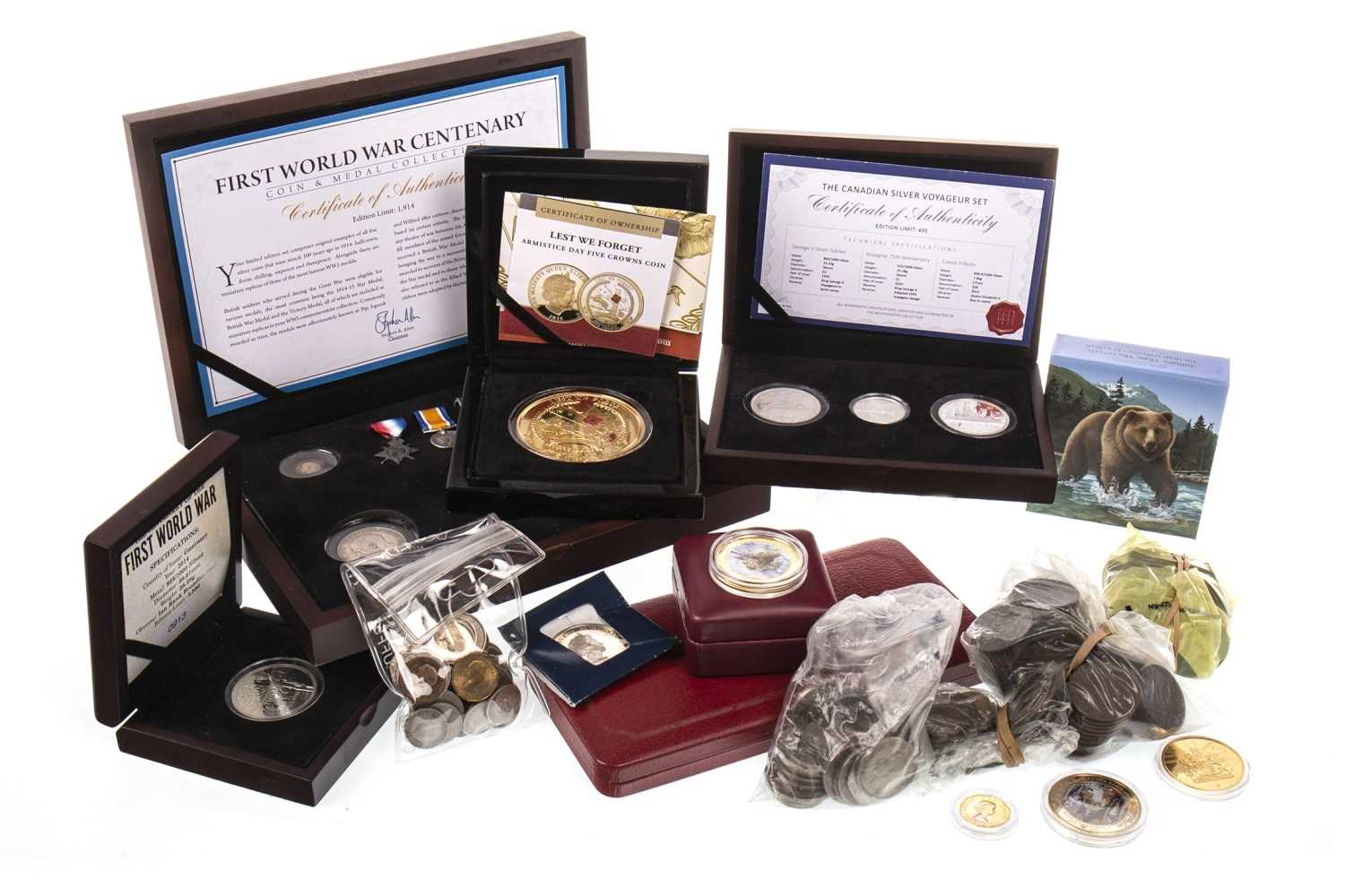 Lot 541 - A COLLECTION OF VARIOUS COMMEMORATIVE AND OTHER COINS