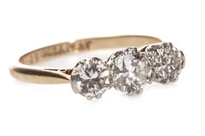 Lot 46-A DIAMOND THREE STONE RING