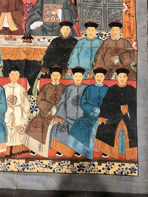 Lot 1017-A LARGE CHINESE ANCESTOR PAINTING