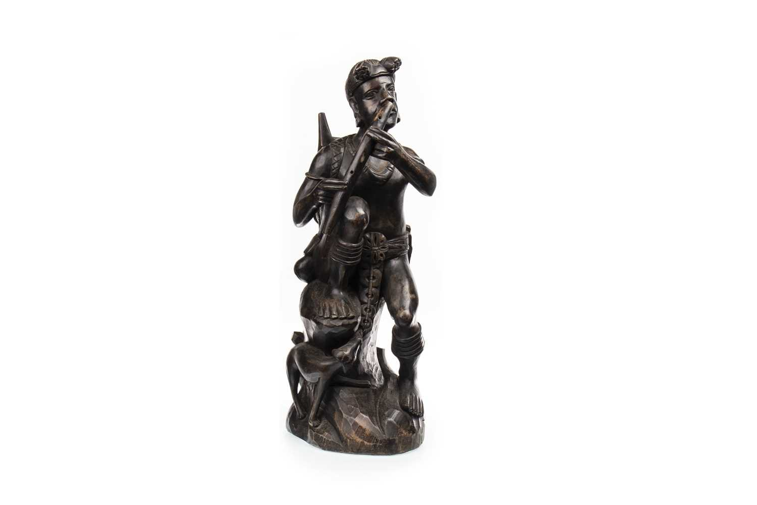 Lot 1016-A LARGE FILIPINO WOOD CARVED FIGURE